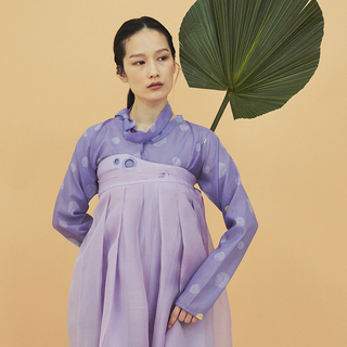 [Fairy tale] Dot blouse purple
