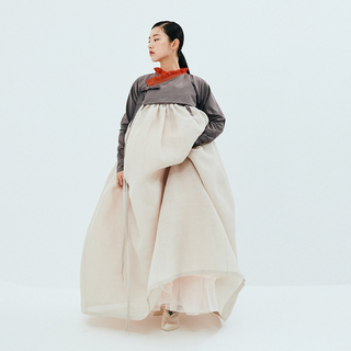 [National Hanbok]  Royal brown