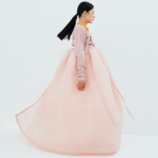 [National Hanbok] Rose tan